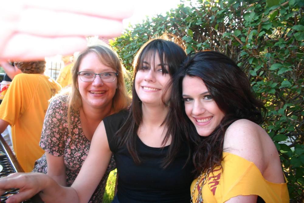 Rachel, Katie, e eu