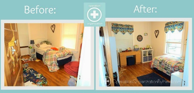 boy room before-after operation organization by heidi